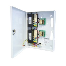 12V d.c. Switch Mode PSU 8Amp. 8 x fused outputs. Ideal for CCTV. 'T' Box: 300h x 240w x 50d - Hinge Lid