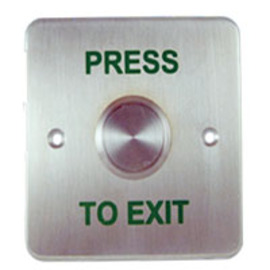 CQR, XB/SS25, Emergency Press to Exit Button - Stainless Steel