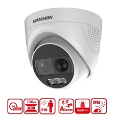DS-2CE72DFT-PIRXOF(3.6MM), 2 MP PIR Siren Full Time ColorVu Camera