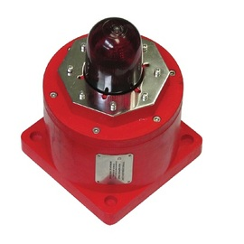 EXD Sounder Beacon 12-48V DC 5W LED, Red Lens