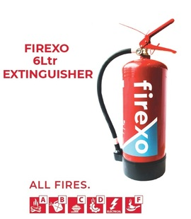 FIREXO-6L, Firexo 6Ltr extinguisher for All fires, fast