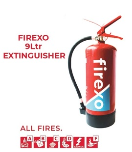 FIREXO-9L, Firexo 9Ltr extinguisher for All fires, fast