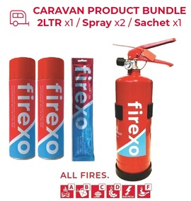 FIREXO-CARAVANPACK, CARAVAN PRODUCT BUNDLE - 2LTR x1 / Spray x2 / Sachet x1