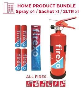 FIREXO-HOMEPACK, HOME PRODUCT BUNDLE - Spray x4 / Sachet x1 / 2LTR x1