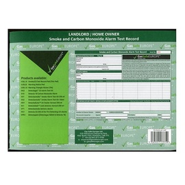 GSEL 21, Smoke and CO Alarm Test Record Pad