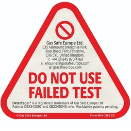 GSEL 23, Failed Test Stickers for CO and Smoke Alarms (50 Stickers)
