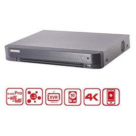 Hikvision, DS-7216HUHI-K2(S), 16 Channel 5MP Turbo HD DVR - NO HDD